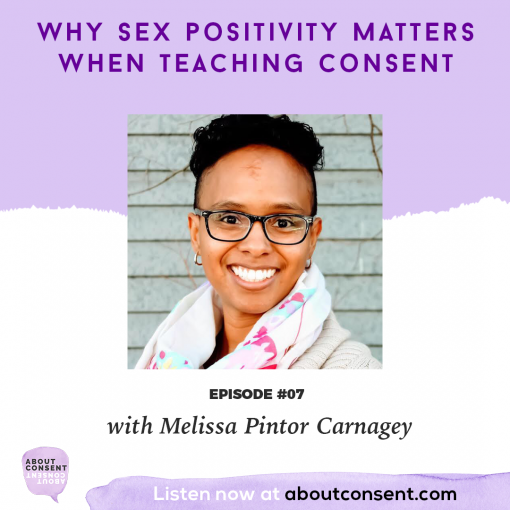 About Consent Podcast Featuring Melissa Carnagey of Sex Positive Families for Episode 7